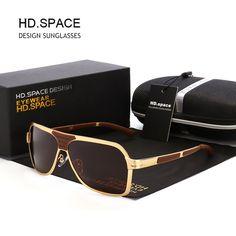 SPACE Polarized men Sunglasses Classical Fashion Brand designer UV400  Driving gafas Sun glasses oculos c17c19588a