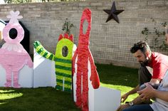 Party cut outs for pictures photographs! Yo GABBA GABBA, but could do any character...