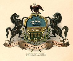 Pennsylvania state coat of arms (illustrated, 1876)