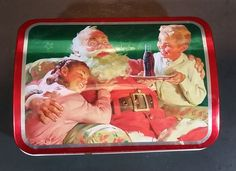 2002 Coca-Cola Coke Santa Holiday Joy Hudson's Bay Collectible Hinged Tin https://treasurevalleyantiques.com/products/2002-coca-cola-coke-santa-holiday-joy-hudsons-bay-collectible-hinged-tin #Collectible #Coke #CocaCola #SodaPop #Pop #Santa #SantaClaus #Christmas #DrinkCoke #HudsonsBay #HolidayJoy #Xmas #Holiday #Collectibles #Tins #Collectables #GiftIdeas #PerfectGift