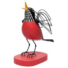 With extreme attention to detail, this wooden sculpture elegantly captures and renders the energy and color of Mr. Harpers birds in a three-dimensional form.
