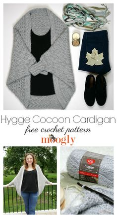 The Hygge Cocoon Cardigan Tutorial is here to guarantee you understand all the stitches and all the details of this free easy crochet sweater pattern made with Red Heart Yarns Hygge! Pattern, supplies, and right and left-handed videos on Moogly! Crochet Cardigan Pattern, Crochet Shawl, Knit Crochet, Free Crochet, Crochet Sweaters, Moogly Crochet, Crochet Ideas, Crochet Stitches, Crochet Cocoon Pattern