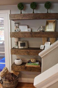 simply organized: Simple DIY: Floating Shelves Tutorial + Decor Ideas