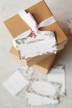 Holiday Pine Printable Gift Tags   Christmas ideas, Christmas printables, entertaining tips and party ideas from @cydconverse
