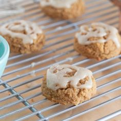 Chewy Pumpkin Spice Cookies with a vanilla bean glaze. Paleo/SCD/GlutenFree
