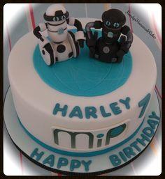 Mip Robot Birthday Celebration Cake