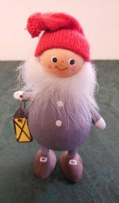 Norwegian Tomte Made in Sweden Figurine Christmas elf wood Scandinavian decor | Collectibles, Holiday & Seasonal, Christmas: Modern (1946-90) | eBay!