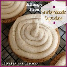 Hives in the Kitchen: {Allergy Free} Snickerdoodle Cupcakes with Cinnamon Frosting