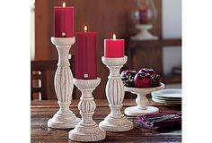 The Chalet Pillar Holder Trio creates a dramatic display of tiered candlelight. #PartyLite