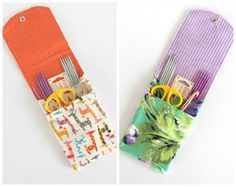 Knitting Needle Cases Organizers Mother's Day Gifts OvationStudio.Etsy.com #knitting #mothersday #gift #organizer