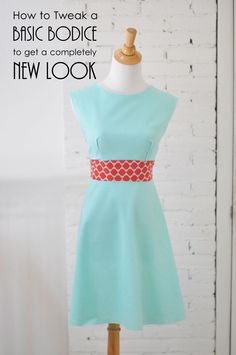 great tutorial for adjusting a basic sewing pattern to get a totally different style