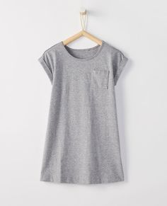 f5f47e2829 Hanna Andersson Sueded Jersey T-Shirt Dress Hanna Andersson, Heather Grey,  Girl Outfits