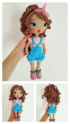 Cute Baby Amigurumi Free Pattern – Amigurumi Doll Amigurumi Free Pattern, Crochet Dolls Free Patterns, Crochet Doll Pattern, Amigurumi Doll, Crochet Sole, Free Crochet, Crochet Fairy, Crochet Chicken, Knitted Dolls