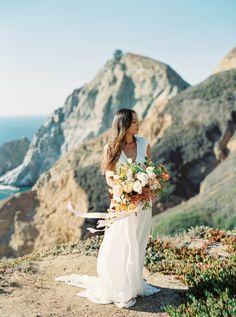 Gorgeous Cali cliffside elopement: http://www.stylemepretty.com/2016/01/08/california-cliffside-elopement-inspiration/   Photography: Cassidy Carson - http://cassidycarsonphotography.com/