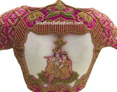 Most Stunning Wedding Blouse Designs for kanjeevaram silk sarees and pattu sarees with embroidery designed by Needle Eye boutique Wedding Saree Blouse Designs, Silk Saree Blouse Designs, Saree Blouse Patterns, Fancy Blouse Designs, Blouse Neck Designs, Silk Sarees, Wedding Sarees, Blouse Styles, Bollywood