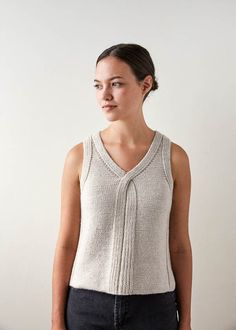 Knit a Classic Tank Top with this Free Pattern