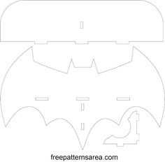 Laser Cutting Batman Wall Shelf Woodworking Template