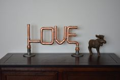LOVE Copper Pipe Sign - Custom Wedding Baby Decor Letters on Etsy, $79.00