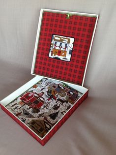 Caixa para presentear no Natal. ideal para colocar toalha de lavabo, ou porta- retrato, ou docinhos nas forminhas, bijoux, etc.