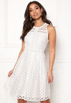 Y.A.S Circle S/L Dress Star White - Bubbleroom