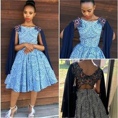 South African Shweshwe Dresses are both simple and elegant; with the unique colors of South African shweshwe dresses that make the girl wearing them look differ Best African Dresses, African Print Dresses, African Print Fashion, African Fashion Dresses, African Clothes, African Outfits, African Wedding Attire, African Attire, African Wear