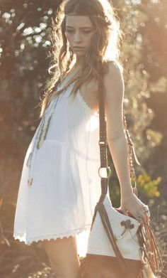 Sexy Bohemian short dress, gypsy style long layered necklaces for a modern hippie look. For the BEST boho chic fashion & jewelry FOLLOW http://www.pinterest.com/happygolicky/the-best-boho-chic-fashion-bohemian-jewelry-gypsy-/