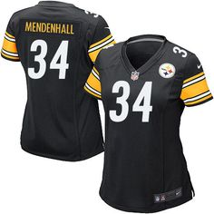 Nike Game Womens Pittsburgh Steelers #34 Rashard Mendenhall Team Color Black NFL Jersey$69.99