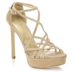 STUART WEITZMAN Stripmall suede strappy platform sandals found on Nudevotion