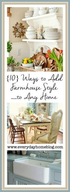 Ten ways to add farmhouse style to your suburban home.