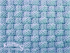 """""""Alternating knit and purl stitches created this richly textured pattern. Pie crust basketweave stitch is an eight row repeat and is knitted in multiple of . Knit Purl Stitches, Dishcloth Knitting Patterns, Knitting Stiches, Knit Dishcloth, Knitting Charts, Loom Knitting, How To Purl Knit, Basket Weaving, Stitch Patterns"""
