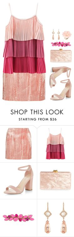 """""""Petunia"""" by km-r7 ❤ liked on Polyvore featuring Topshop Unique, New Look, Edie Parker, Valentino, NSR Nina Runsdorf and Dettagli"""