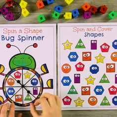 and Shapes Math Games Looking for awesome shapes worksheets and games to use in your classroom? This and Shapes - Kindergarten Math Unit is filled with hands-on activities and no-prep worksheets to help children learn about and use shapes. 3d Shapes Kindergarten, Kindergarten Math Games, Math Math, Preschool Shapes, 3d Shapes Activities, Teaching Shapes, Fun Math Games, Diy Games, Formas 2d Y 3d
