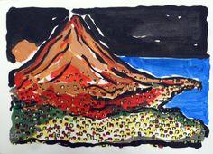 Vesuvio N.4. Painting  of Piero Petillo
