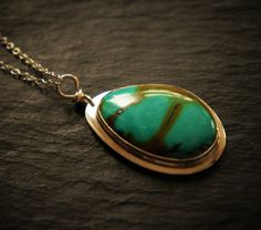 Turquoise and Sterling Silver Pendant by DakiniUK on Etsy