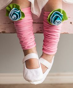 Look what I found on #zulily! Blue Petite Rose Leg Warmers #zulilyfinds
