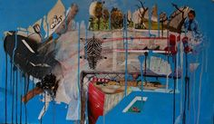 "Saatchi Art Artist Jan Zizka; Collage, ""Drive in"" #art"