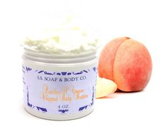 Natural Peaches and Cream Whipped Body Butter - S. S. Soap & Body Co.