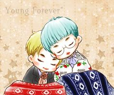 Namjin fanart (Kim Namjoon and Kim Seokjin) #YOUNGFOREVER