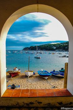 Window at the beach - Calella  de Palafrugell   Catslonia