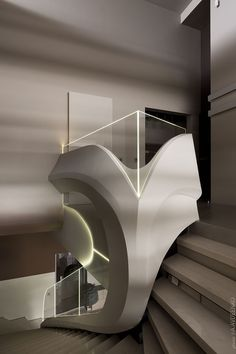 Shelter House on Behance Interior Staircase, Stairs Architecture, Staircase Design, Architecture Details, Interior Architecture, Building Construction Materials, Sheltered Housing, Futuristic Home, Luxury Rooms
