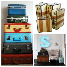 Vintage collectible luggage