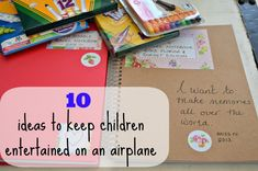 10 ideas to keep children entertained on an airplane