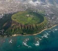 Diamond Head on O'ahu (also called the Punch Bowl)...many great memories of me and my dad racing up the trail to see who would get to the top first....
