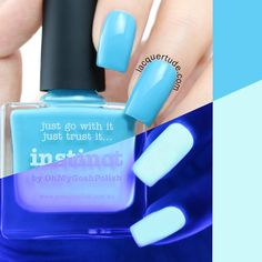 Instinct is a sweet shy blue that glows in the dark!  Picture Polish is an Australian brand producing 5-free nail polish and a big favorite amongst Nailistas! Famous for creating unique shades, the brand has more than a hundred different polishes in its selection. Picture Polish definitely has the perfect color for you!