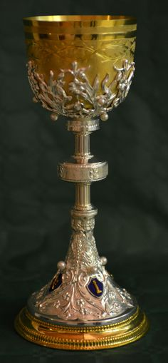 Looks like a Communion Chalice. Very beautiful!