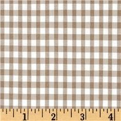 Tan and white gingham