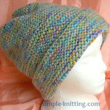 Garter Stitch Hat - Easiest Ever Hat Pattern
