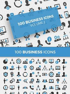 100 Business Icons Vol. World Icon, Best Icons, Icon Collection, Business Icon, Icon Pack, I Am Happy, Artist At Work, Icon Set, Icon Design