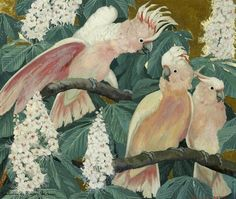 Untitled by Jesse Arms Botke on Curiator, the world's biggest collaborative art collection. Botanical Drawings, Botanical Illustration, Japanese Art Modern, Digital Museum, Lovely Creatures, Collaborative Art, Sketch Painting, Cockatoo, Bird Art