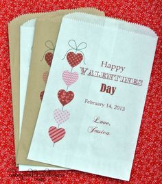 Valentine's Day Candy Bags by abbey and izzie designs on Etsy,